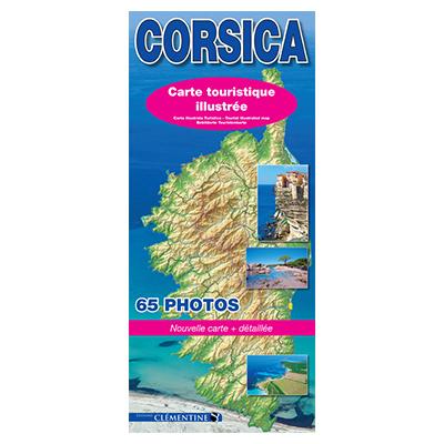 Carte routière illustrée de Corse