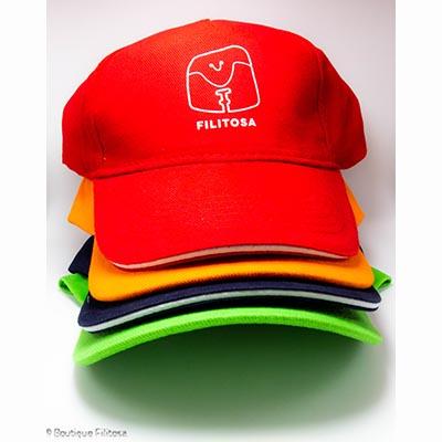 Ensemble casquettes adultes Filitosa couleur bleu marine rouge vert orange