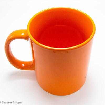 MUG orange Filitosa IX côté haut