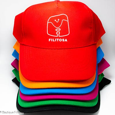ensemble casquettes enfants Filitosa couleur fuschia vert bleu turquoise orange rouge noir - 1